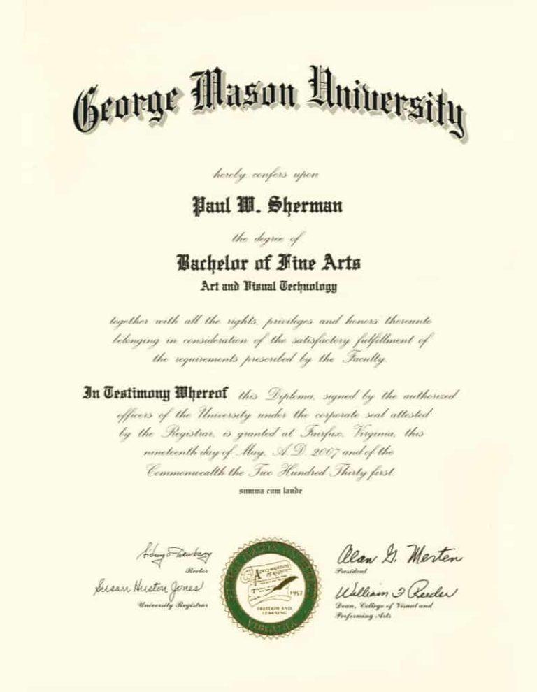 Bachelor of Fine Arts